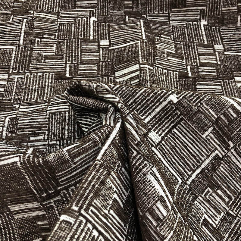brown chenille upholstery fabric