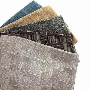 Geometrical chenille upholstery fabric