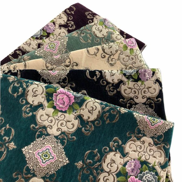 floral chenille upholstery fabric