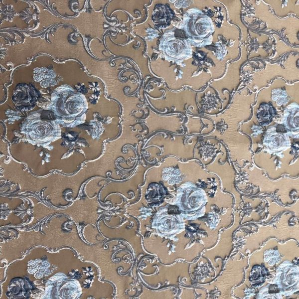 brown floral fabric